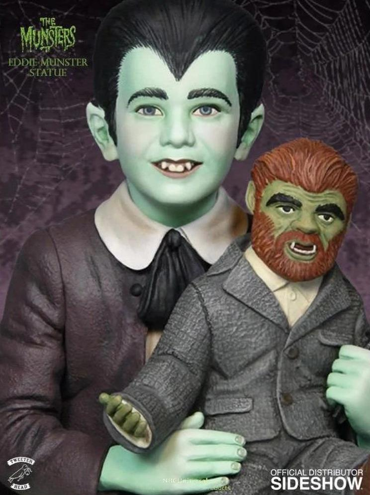 The Munsters: Eddie & Television Colored Maquette Statue by Tweeterhead