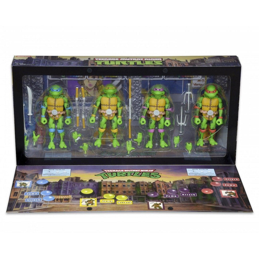 TMNT Arcade Figure Box Set SDCC 2016 Exclusive by NECA