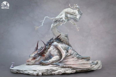 The Encounter Of Mouse & Dragon Under Withered Tree Statue