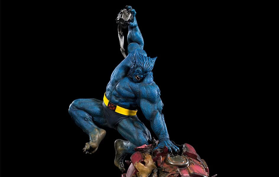 Marvel Battle Diorama Series Beast Vs Sentinel Statue