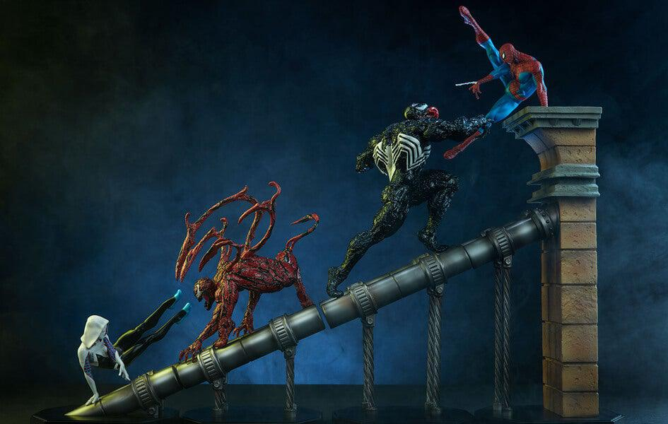 Marvel Battle Diorama Series Spider-Man Statue BUNDLE by Iron Studios