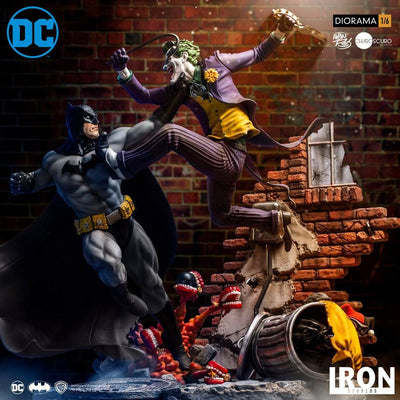 Iron Studios: Batman vs Joker Battle Diorama Statue 1/6 - DC Comics by Ivan Reis