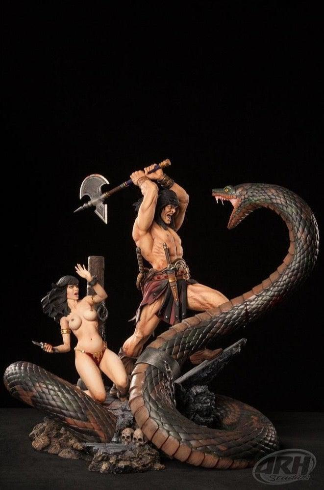 Snake Diorama with Slave Girl 1/4 Scale EXCLUSIVE by ARH Studios