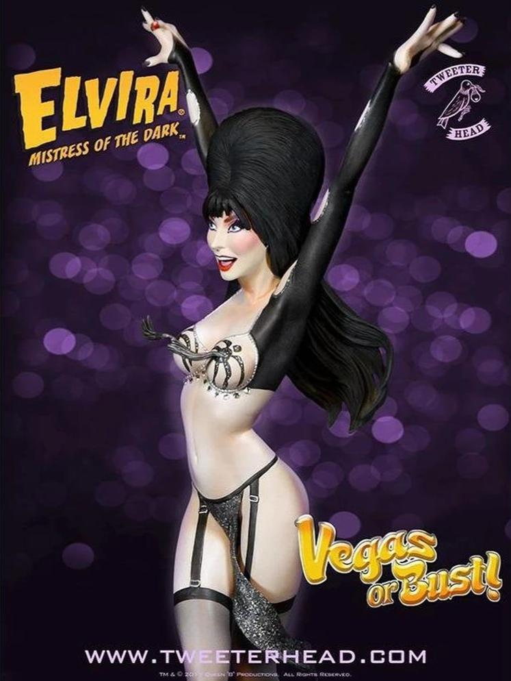 EXCLUSIVE Elvira Vegas Or Bust Maquette Statue by Tweeterhead