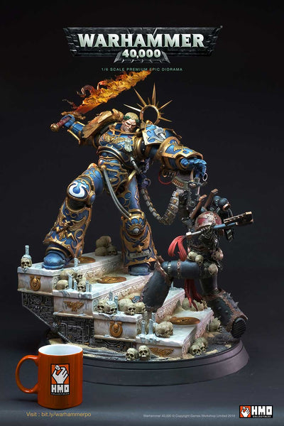 Warhammer 40,000: Guilliman vs Chaos Space Marine Statue Diorama