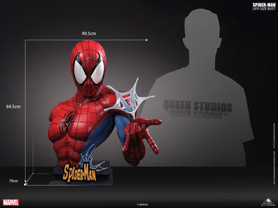 Spiderman BLACK/BLACK 1:1 Lifesize Bust