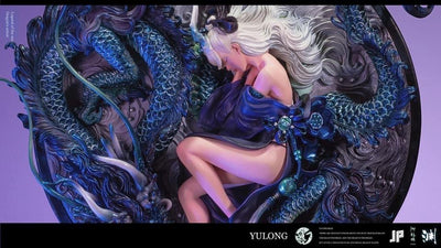 Sleeping With Dragon Deep Blue Statue