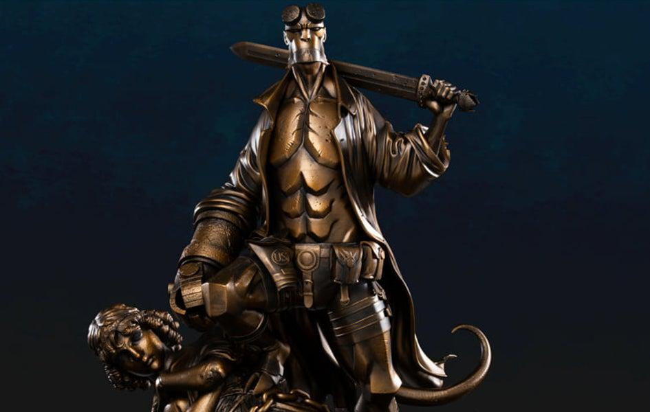Hellboy (BRONZE VERSION) 1/4 Scale Statue (Mignola Comic)