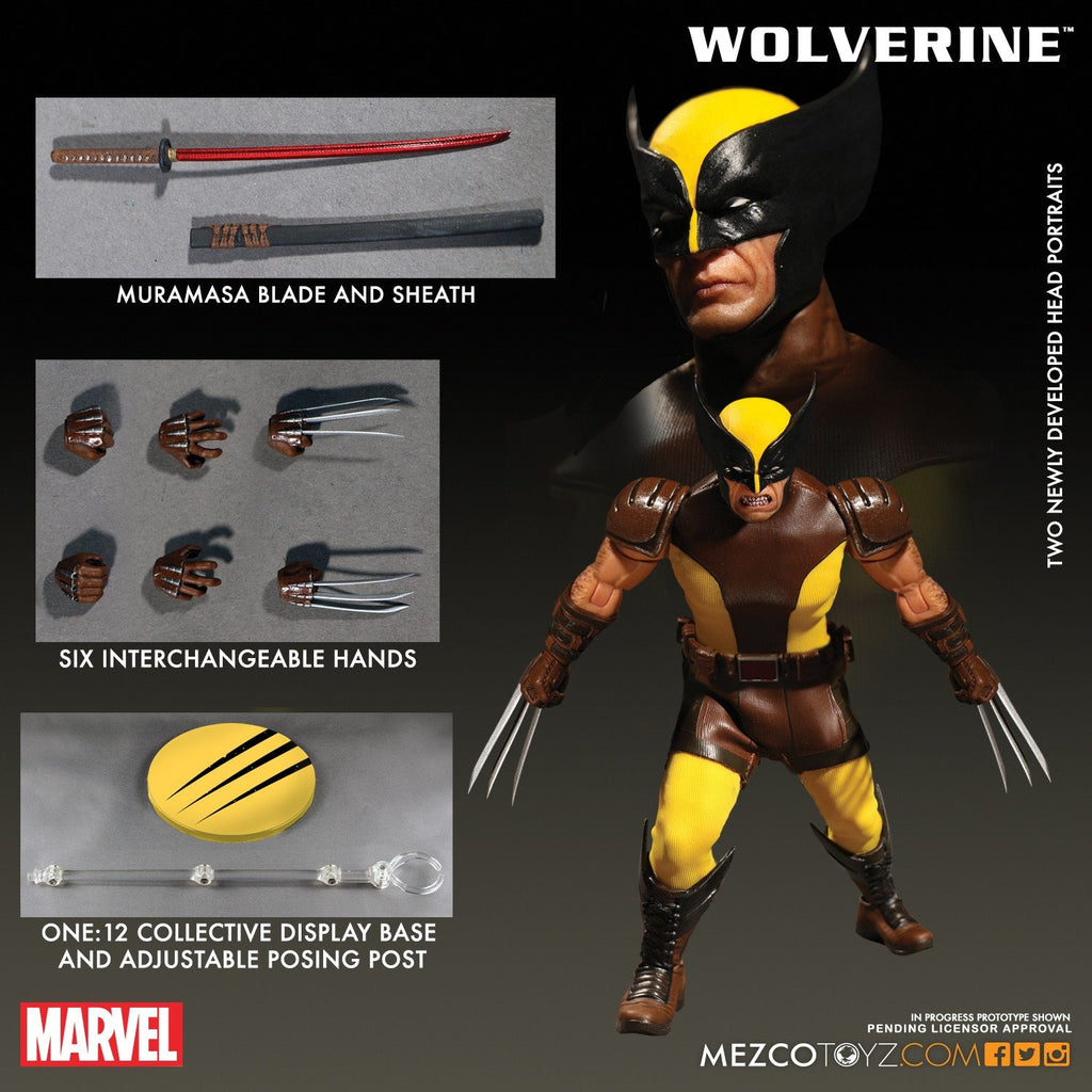 Mezco One:12 Collective Wolverine Action Figure NEW