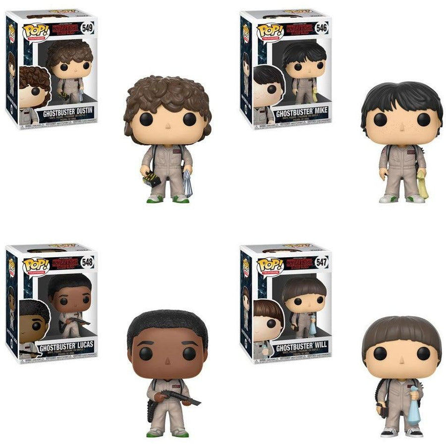 Stranger Things Ghostbusters Will, Dustin, Mike & Lucas 4 PACK Funko Pop! Television