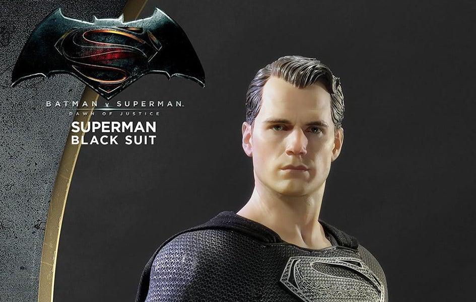 Superman Black Suit 1:2 Scale Statue