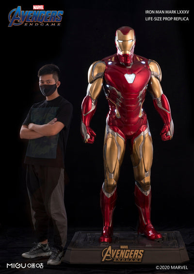 Life Size Iron Man Mark 85 Full statue