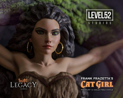 Frazetta Legacy Series Cat Girl 1/4 Scale Statue by Level 52 Studios