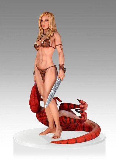 Shanna She-Devil / Jungle Girl w/ Raptor 1/4 Scale Statue by Gentle Giant