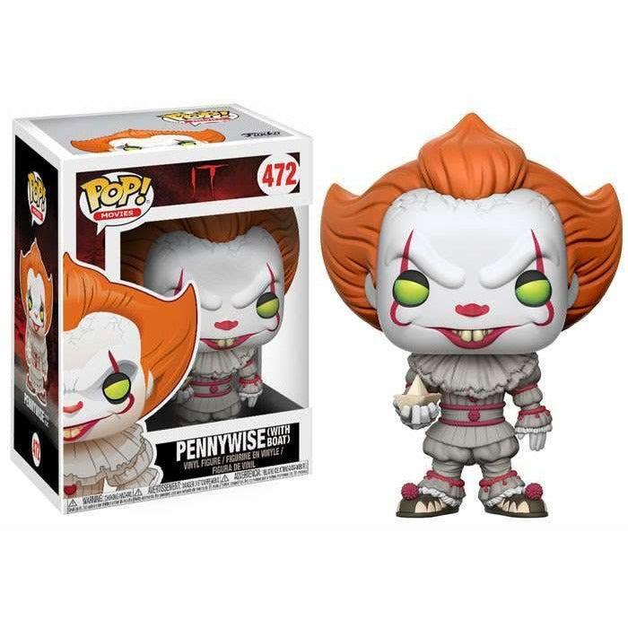 Funko POP! Movies Pennywise (with Boat) Vinyl Figure #472 REGULAR VERSION