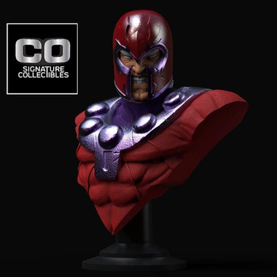 Magneto Life Size 1:1 Scale Bust CO Signature