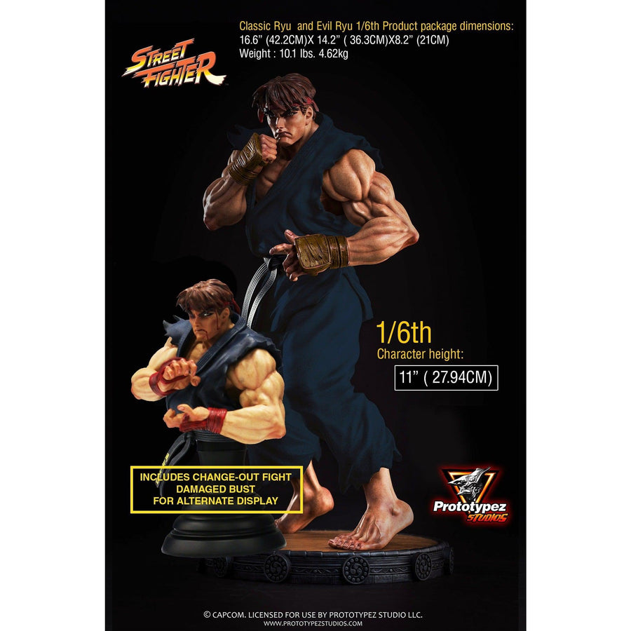 Street Fighter Evil Ryu 1/6 Scale Statue by PrototypeZ Studios