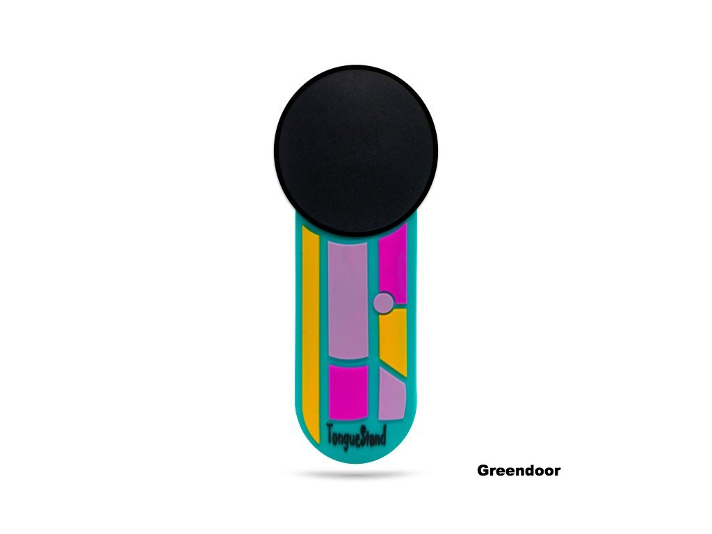 "TongueStand ""Greendoor"" {phone-stand. grip. car phone  holder}"