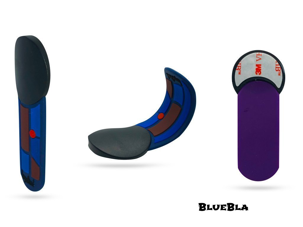 "TongueStand ""BlueBla"" {phone-stand. grip. car phone holder}"
