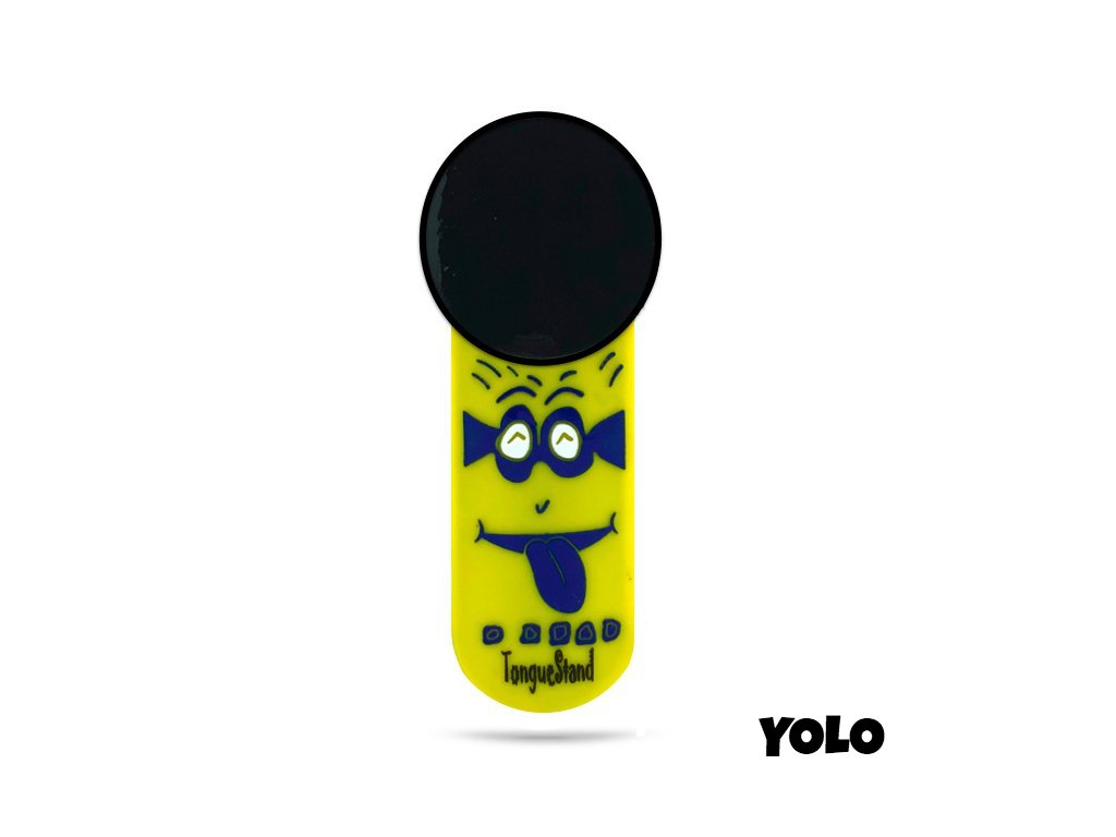 "TongueStand ""YOLO"" {phone-stand. grip. car phone holder}"