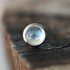 3mm Rainbow Moonstone Pushfit Stud-Pushfit-Caterpillar Arts