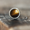 3mm Tigers Eye Cartilage Earring-Cartilage Earring-Caterpillar Arts