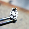 Ladybug Internally Threaded Cartilage Earring-Internally Threaded Labret-Metal Lotus