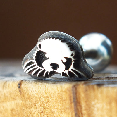 Otter Internally Threaded Labret-Internally Threaded Labret-Metal Lotus