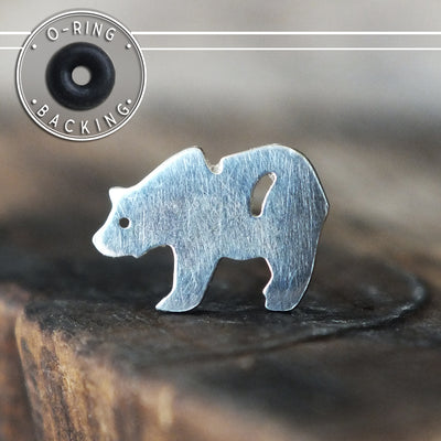 Silver Bear Single Flare Plug-Single Flare Plug-Metal Lotus