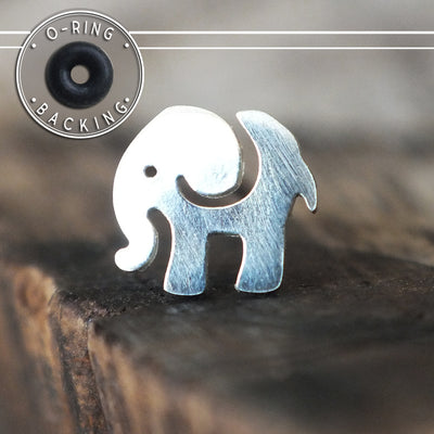 Silver Elephant Single Flare Plug-Single Flare Plug-Metal Lotus