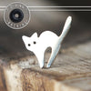 Silver Spooked Cat Single Flare Plug-Single Flare Plug-Metal Lotus
