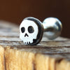 Skull Internally Threaded Labret-Internally Threaded Labret-Metal Lotus