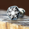 Snowflake Internally Threaded Labret-Internally Threaded Labret-Metal Lotus