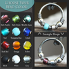 Adorned, Beaded Nose Hoop - Choose Your Color-Beaded Hoop-Caterpillar Arts