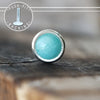 3mm Amazonite Push-fit Stud-Pushfit-Metal Lotus