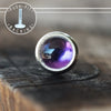 3mm Amethyst Push-fit Stud-Pushfit-Metal Lotus