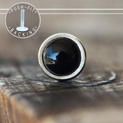 3mm Black Onyx Push-fit Stud-Pushfit-Metal Lotus