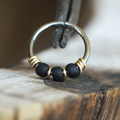 Charcoal - Black Nose Ring Hoop