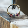 Eggplant, Beaded Nose Ring Hoop-Beaded Hoop-Caterpillar Arts