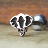 Elephant Head Internally Threaded Cartilage Earring-Internally Threaded Labret-Metal Lotus