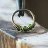 Evergreen - Deep Green Nose Ring Hoop-Beaded Hoop-Metal Lotus