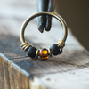 Honey Bee - Black & Brown Nose Piercing Hoop-Beaded Hoop-Metal Lotus