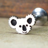 Koala Internally Threaded Cartilage Earring-Internally Threaded Labret-Metal Lotus