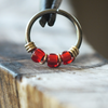 Lipstick - Red Nose Piercing Hoop-Beaded Hoop-Metal Lotus