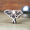 Luna Moth Internally Threaded Cartilage Earring-Internally Threaded Labret-Metal Lotus