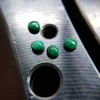 Malachite Disc Nose Stud-Nose Stud-Caterpillar Arts