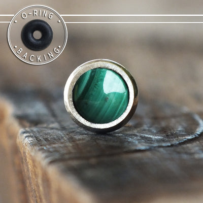 3mm Malachite Single Flare Plug-Single Flare Plug-Metal Lotus