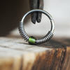 Minimalist, Beaded Nose Hoop - Choose Your Color-Beaded Hoop-Caterpillar Arts