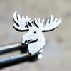Moose Internally Threaded Cartilage Earring-Internally Threaded Labret-Metal Lotus