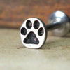 Paw Print Internally Threaded Cartilage Earring-Internally Threaded Labret-Metal Lotus